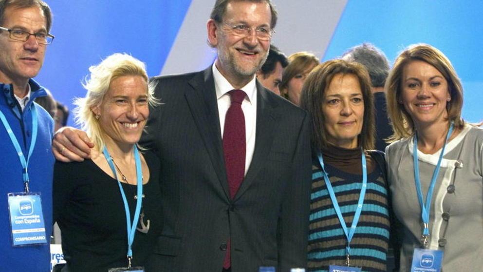 Marta Domínguez y el también campeón del mundo Abel Antón integran las listas del Partido Popular.
