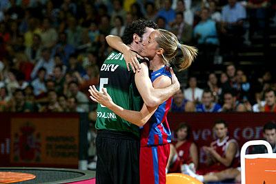"""Rudy y Marta Fernández, la pareja """"mixta"""" de hermanos del baloncesto español."""