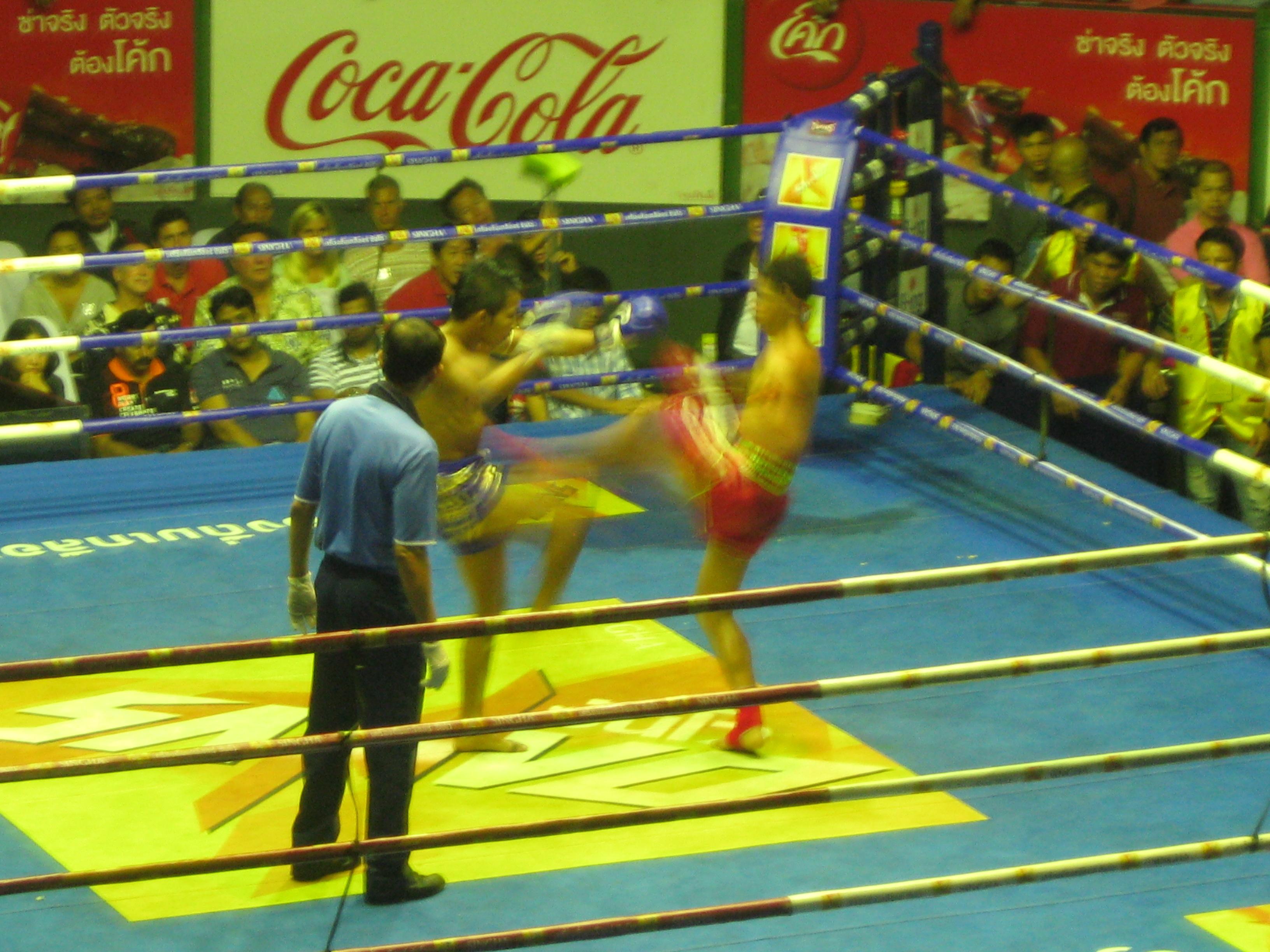 El Muay Thai permite utilizar todo el cuerpo salvo la cabeza para golpear.