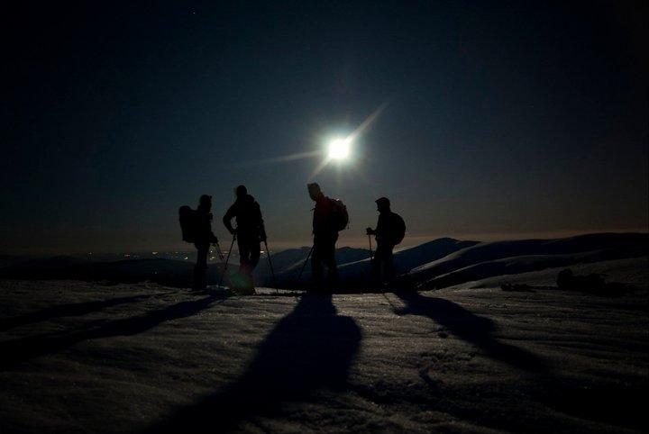 La ruta nocturna sólo recomendada a montañeros experimentados.
