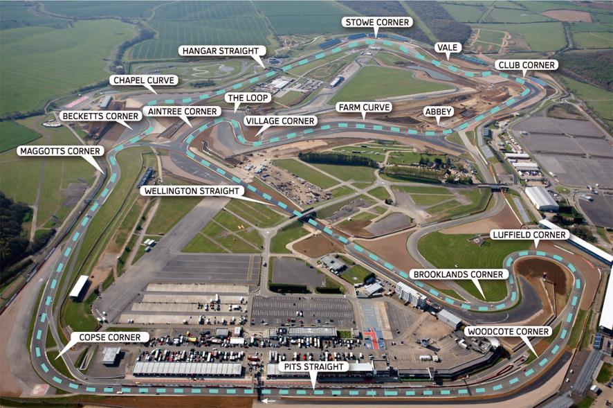 El circuito de Silverstone es uno de los clásicos del mundial de Fórmula 1.