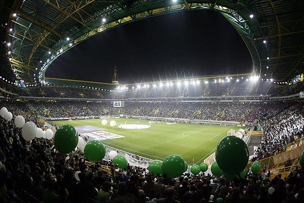 Estadio José Alvalade, donde juega sus partidos como local el Sporting de Lisboa.
