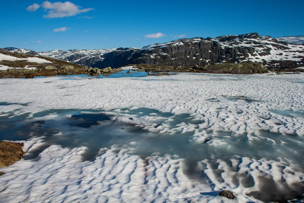 La nieve te acompañará durante gran parte del recorrido. (Foto: Víctor Fernández-Peñaranda)