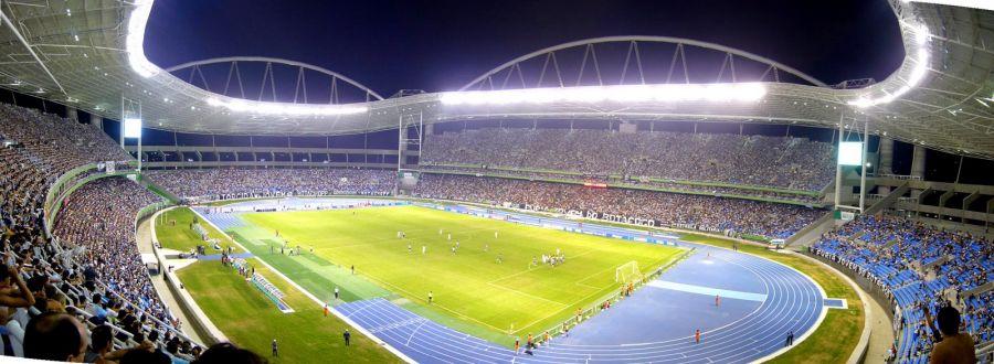 El Estadio Joao Havelange fue remodelado para albergar el atletismo en los JJOO.