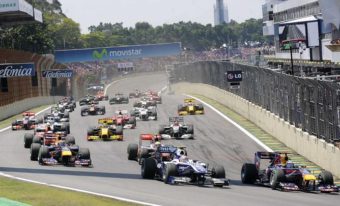 El circuito de Interlagos es ya un clásico en el Mundial de Fórmula 1 a final de temporada.