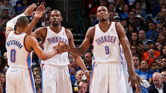 De las prestaciones de Durant, Westbrook e Ibaka dependerán las opciones al título en Oklahoma.