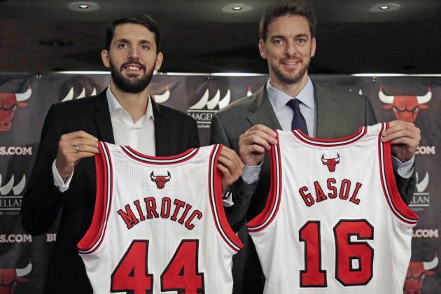 Pau Gasol y Nikola Mirotic llegan a Chicago para aspirar a ser campeones.