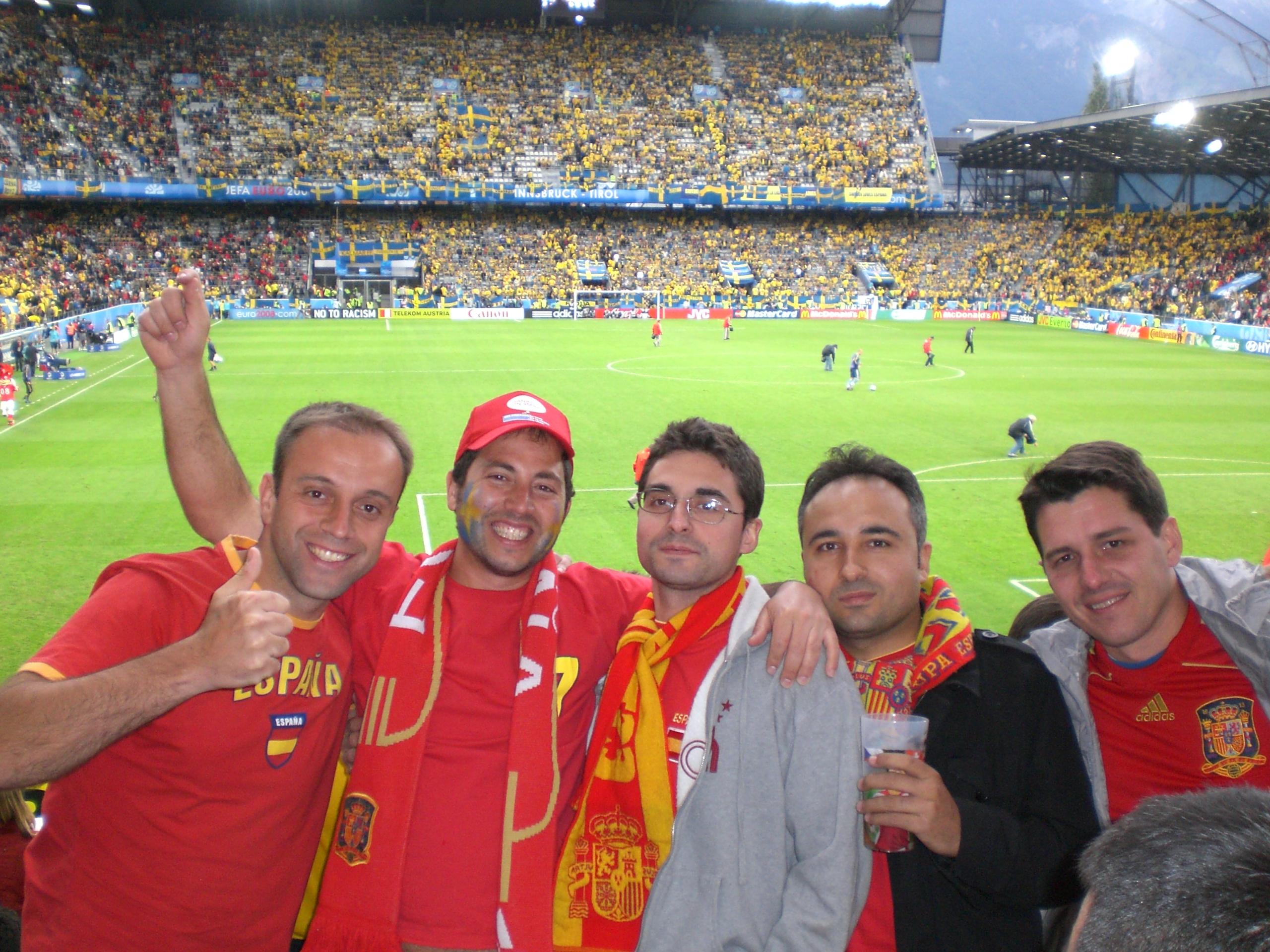 El partido entre España y Suecia en la Eurocopa 2008 es uno de los más apoteósicos que recuerda Gerardo.