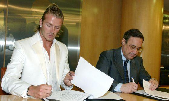 """Los beneifcios de la """"Ley Beckham"""" permitieron a los clubes españoles firmar a grandes estrellas."""