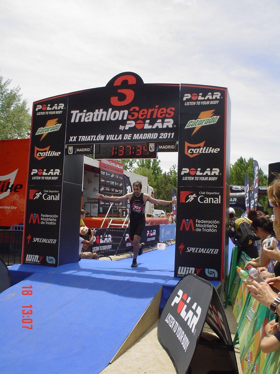 La mejor forma de iniciarse en el triatlón es con la modalidad sprint como hizo Carlos en 2011.