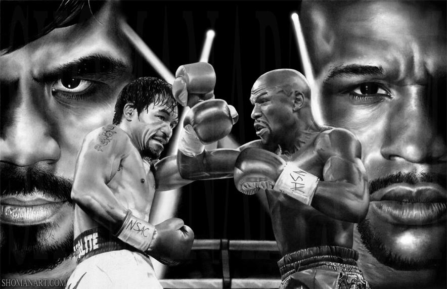 Todo está listo en Las Vegas para el combate de boxeo del siglo.