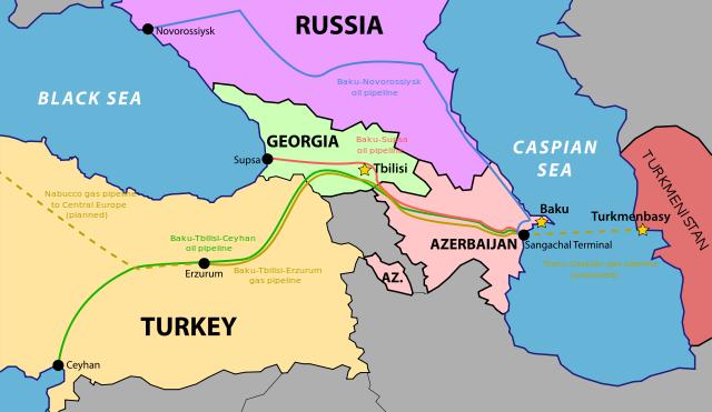 Azerbayán ocupa una posición privilegiada en la estratégica región del Caúcaso.