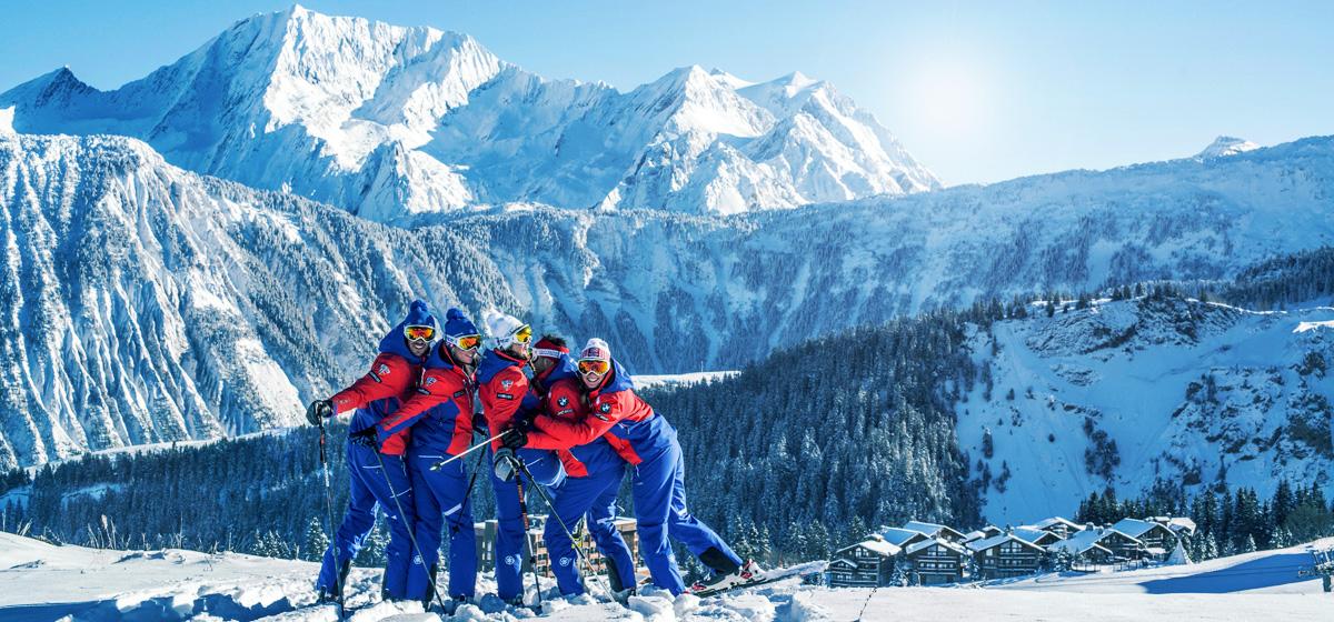 La estación de Courchevel constituye uno de los grandes dominios esquiables de Francia.