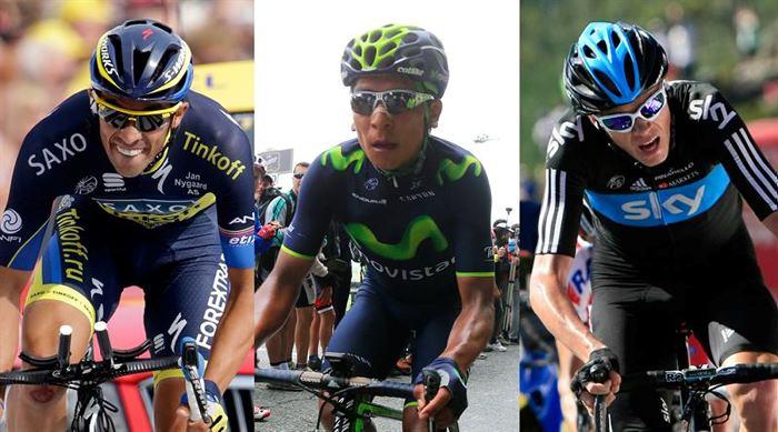 Los jefes de filas del Tour tienen a todo su equipo a disposición en pos del triunfo final.
