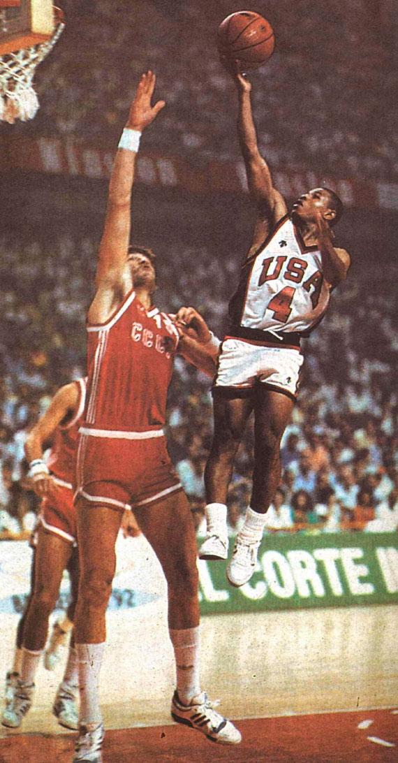 Sabonis y Bogues, la URSS estuvo a punto de derrotar a EEUU en el mundial de España 86.