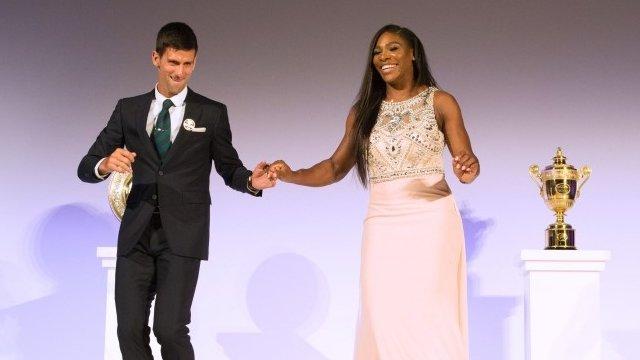 El inolvidable año de Nole Djokovic y Serena Williams bien merece un baile como  el que hicieron tras Wimbledon.