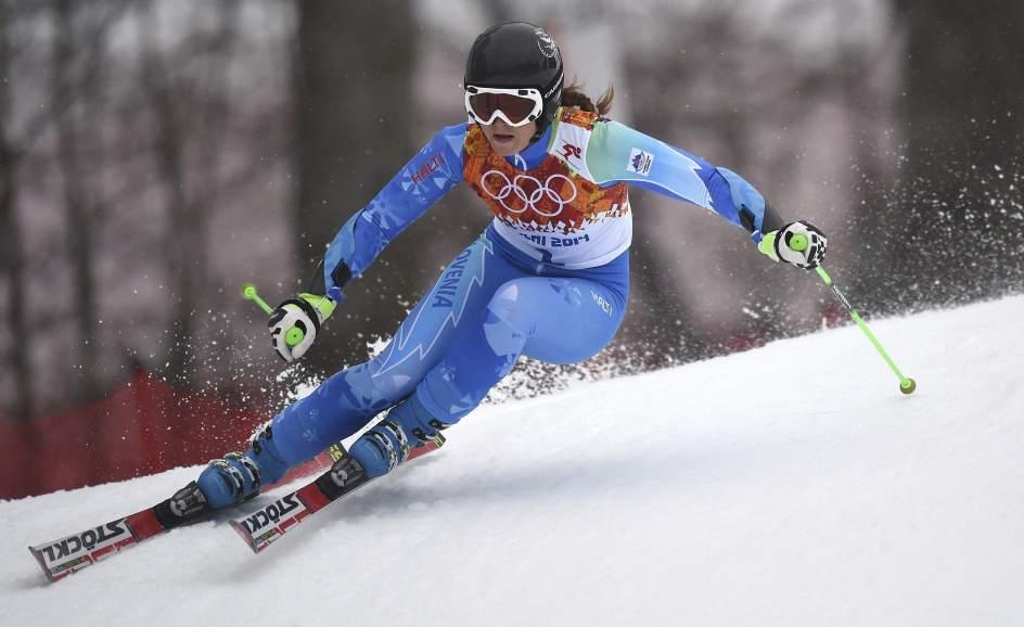 La esquiadora eslovena Tina Maze durante los últimos JJOO de Sochi.