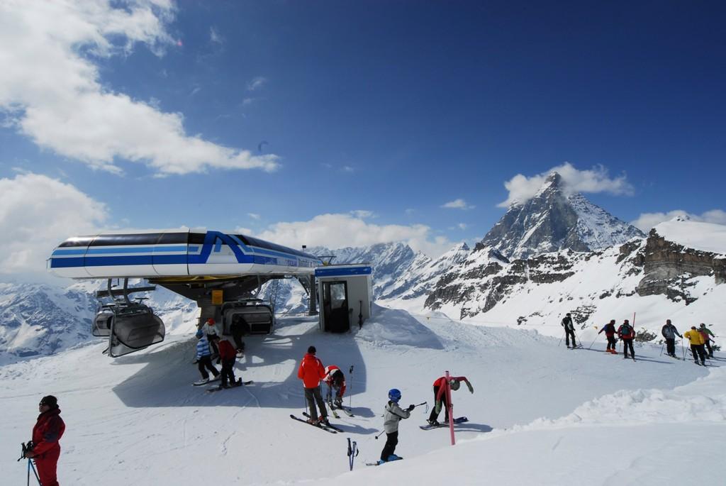 El complejo alpino de Cervinia es uno de los mejores de Europa.