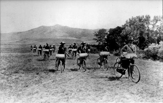El 25 regimiento de infantería realizó en 1896 un recorrido campo a través de más de 500 millas.