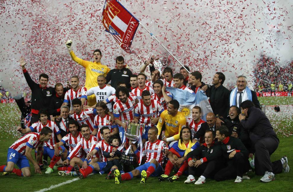 El Atlético tiene un balance claramente favorable en las finales de Copa del Rey disputadas contra el Real Madrid.