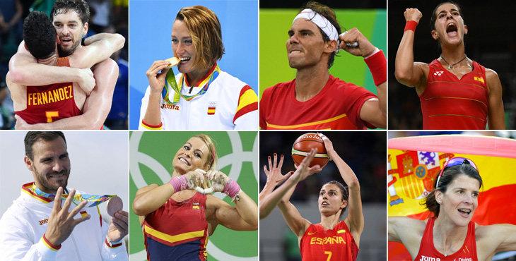 Las estrellas del deporte español animan a consumir y practicar deporte.