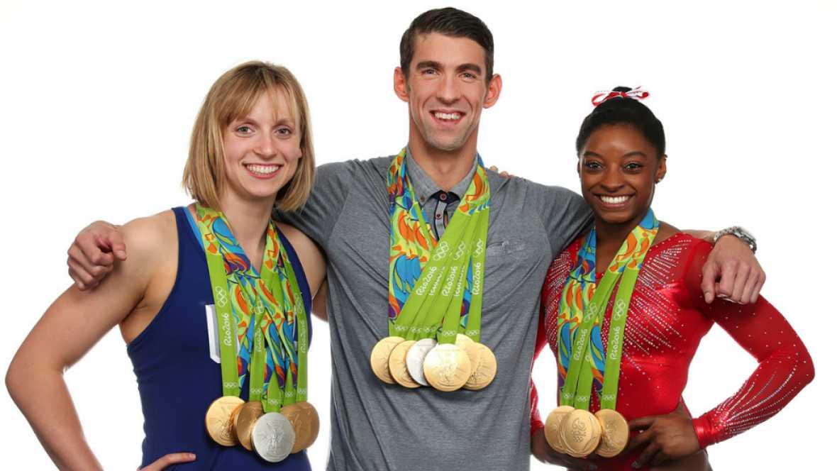 Phelps (6), Ledecky (5) y Biles (5) fueron los deportistas que más medallas obtuvieron en Río 2016.