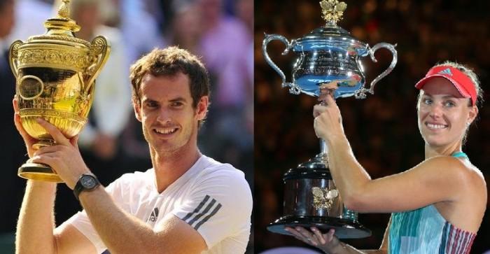 Andy Murray y Angelique Kerber son los nuevos números uno del tenis mundial.